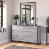 "Kathy Ireland Home by Bush Furniture Atria 6 Drawer 57"" W Double Dresser in Gray, Size 34.0 H x 57.0 W x 17.0 D in | Wayfair ARS160PGK"