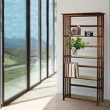 Latitude Run® Style 5-Shelf Bookcase, Walnut (New) Wood in Brown, Size 63.0 H x 11.75 W x 29.5 D in | Wayfair 72267A23E631485CBD62AD682CBDFA0F