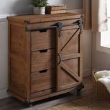 Gracie Oaks Cabinet, Natural in Brown, Size 33.0 H x 15.0 W x 27.0 D in   Wayfair 89E34B5841604AE6AC4ADF9C7DFD8486