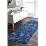"""Foundry Select Moroccan Blythe Runner Rug, 2' 6"""" X 10' in Blue/Brown, Size 30.0 W x 0.37 D in   Wayfair C6D0FF22E34742449C3C70741B5D8174"""