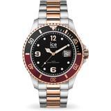 Quartz Black Dial Two-tone Unisex Watch - Metallic - Ice-watch Watches