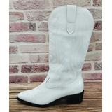 NANIYA Women's Casual boots WHITE - White Embroidered Cowboy Boot - Women