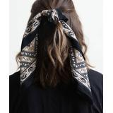 Leto Collection Women's Accent Scarves Black - Black Vintage Floral Bandanna - Women