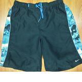 Nike Swim | Nike Lined Swim Shorts Polyester Black & Blue Sz X-Large, Xl | Color: Black/Blue | Size: Xl