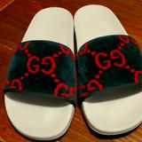 Gucci Shoes | Gucci Woman Material Sandals | Color: Green/Red | Size: 8