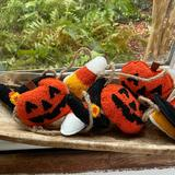 Anthropologie Holiday | Halloween Felt Wool Garland | Color: Black/Orange | Size: Os
