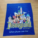 Disney Other | Disneyland Resort Vintage Where Dreams Come True Throw Blanket Blue | Color: Blue/Yellow | Size: Osbb