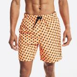 """Nautica Men's Sustainably Crafted 8"""" Shell Print Swim Fireside, M"""