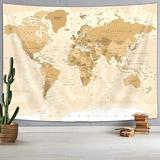 Williston Forge Old World Map Tapestry, Vintage Tapestries, Map Of World Wall Decor Tapestrt For For Bedroom Living Room Home Wall   Wayfair in Brown