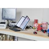 DURABLE INSTAVIEW Desktop Reference System, 10 Double Panels, Letter Acrylic in Black, Size 3.3 H x 9.9 W x 13.8 D in | Wayfair 561201
