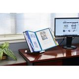 DURABLE SHERPA Desktop Reference System, 10 Double-Panels, Letter-Size, Gray Acrylic in White/Brown, Size 4.0 H x 10.5 W x 15.5 D in | Wayfair