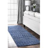 Dakota Fields Moroccan Blythe Runner Rug in Blue, Size 32.0 W x 0.3 D in   Wayfair 64886CDE3F8C4AACB62F480215429A2D