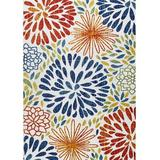 Red Barrel Studio® Transitional Indoor/Outdoor Area Rug in Black/Blue/Pink, Size 90.0 W x 0.25 D in | Wayfair F487CED95C294A67A2DF73B01027DD5A