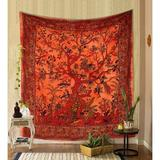 Red Barrel Studio® Tapestry Tree Of Life Wall Hanging Psychedelic Tapestries Indian Cotton Twin Bedspread Picnic Sheet Wall Decor Blanket Wall Art Hippie Bedroom Decor Cotton