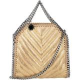 Tiny Falabella Chervon Tote Bag - Metallic - Stella McCartney Totes