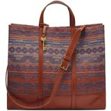 Carmen Fabric Tote - Red - Fossil Totes