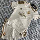 Adidas Matching Sets | Adidas Real Madrid Fly Emirates Youth Soccer Jersey And Shorts Nwt Size 4-5y | Color: White | Size: 4-5y
