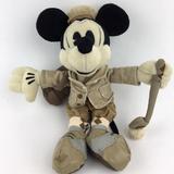 Disney Toys   Disney World Mickey Mouse Golfer Plush Stuffed Bean Bag Pie Eye 11 Inches   Color: Brown/Tan   Size: Osb