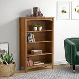 """Winston Porter Mccrory 30"""" W Solid Wood Standard Bookcase Wood in Brown/Green/Red, Size 48"""" H x 30"""" W x 13""""D 