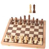 CROSTER Magnetic Wooden Chess Set, 15 Inches Handmade Wooden Folding Travel Chess Board Game Sets w/ Chessmen Storage Slots For & Adults   Wayfair
