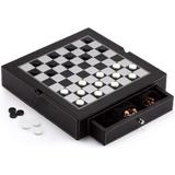 CROSTER Premium Leather Chess, Checkers, Backgammon & Chinese Checkers Board Game Combo Set. Classic Board Strategy Game For & Adults   Wayfair