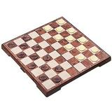 CROSTER Chess Sets Chess Checkers Tournament Magnetic Portable Folding Travel Chess Board Game Sets w/ Game Pieces, Size 0.8 H x 12.5 W in   Wayfair