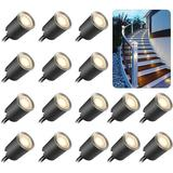 IMMORTAL Recessed LED Deck Light Kits w/ Protecting Shell Φ32mm,In Ground Outdoor LED Landscape Lighting IP67 Waterproof,12V Low Voltage For Garden