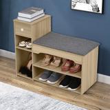 Latitude Run® 6 Pair Shoe Storage Cabinet Manufactured Wood in Yellow, Size 24.2 H x 31.5 W x 11.8 D in | Wayfair A8C58796F4B44589998F40582B1495ED