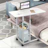 Inbox Zero Home Lazy Bedside Laptop Desk Removable Coffee Table Living Room Sofa End Table in White, Size 3.5 H x 34.6 W x 21.7 D in   Wayfair