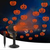 The Holiday Aisle® Halloween Lights Outdoor Decorations Projector Show Indoor LED Pumpkin Projection Outside Spotlight For Holiday House Wall Landscape Party Decorations