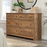 "Gracie Oaks Darill 6 Drawer 50.55"" W Double Dresser Wood in Brown, Size 32.677 H x 50.55 W x 16.929 D in | Wayfair B5AD53D0EC394DBA966C263B8AB5CF0F"