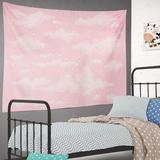 East Urban Home Tapestry Sky Tapestry w/ White Cloud Tapestry Sky Cotton Candy Cute Heaven Decorative Tapestry Pastel Beautiful Bright Day Wall Hanging Tapestry For Cotton