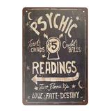 The Holiday Aisle® Horror Realistic Wall Decoration Metal Tin Sign Psychic Readings 5 Tarot Cards Crystal Balls Vintage 8X12 Inch Wall Decor Wayfair
