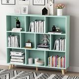 Corrigan Studio® Cube Bookcase Mid-Century Bookshelf Modern Display Open Storage Bookcase Freestanding Decorative Organizer Shelves For Living Room Bedroom Home Office Wood