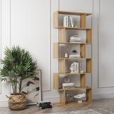 Latitude Run® Bookshelf w/ 6 Shelves Wood in Brown, Size 75.81 H x 31.62 W x 9.28 D in   Wayfair 2A588E671E4842168405643B520D20BE