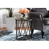 Baxton Studio Finnick Modern Industrial Antique Black finished Metal End Table - Wholesale Interiors H01-102535 Metal Side Table