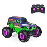 Monster Jam Official Grave Digger Freestyle Force Remote Control Car Monster Truck Toy, Multicolor