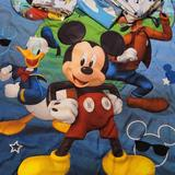Disney Other | 4 Piece Toddler Mickey Mouse Bed Set | Color: Blue/Red | Size: Toddler Bed