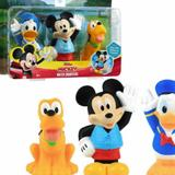 Disney Toys | Disney Jr Mickey Mouse Bath Toy Set, Mickey Mouse, Donald Duck, And Pluto Water | Color: Black/Red | Size: Osg