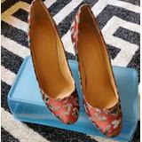 J. Crew Shoes | J. Crew Pumps | Color: Gray/Red | Size: 8.5