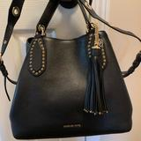 Michael Kors Bags   Michael Kors Leather Brooklyn Bag   Color: Black   Size: 10.5 In Height. 14 Inches Wide. 6 Inch Depth.