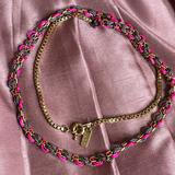 Madewell Jewelry   Madewell 1937 Pink Gold Box Chain Long Necklace   Color: Gold/Pink   Size: 32