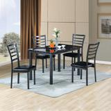 Better Home Products Milan Set of 4 Stackable Metal Dining Chairs in Black - Better Home Products 616859963849