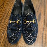 Gucci Shoes | Jordan Gg Blue Velvet Gucci Loafers | Color: Blue | Size: 8