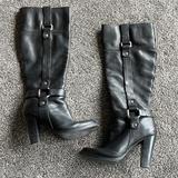 Nine West Shoes | Knee High Black Leather Boots | Color: Black | Size: 6