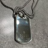 Gucci Jewelry   Authentic Gucci Sterling Silver Dog Tag Necklace   Color: Silver   Size: Os