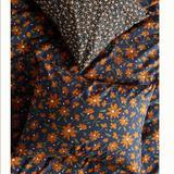 Anthropologie Bedding | Anthropologie-Agnes Organic Percale Shams, Set Of 2 Standard Shams | Color: Blue/Orange | Size: 20x26