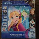 Disney Toys | Frozen Electronic Reader And 8 Book Set | Color: Blue | Size: Osbb