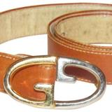 Gucci Accessories   Gucci Camel Leather Belt With Large, Two-Tone Gg Logo Buckle!   Color: Gold/Silver   Size: 8032 - See Ad