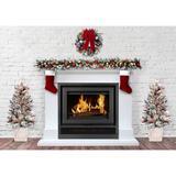 "Haute Decor 48"" H Fir Flocked Christmas Tree w/ 100 Lights in White, Size 48.0 H x 25.0 W in | Wayfair KTAC2GW001"